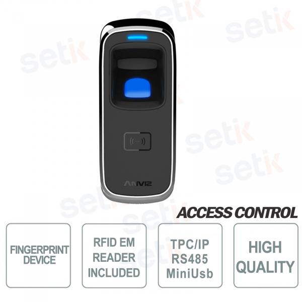 Lettore Biometrico Standalone d'impronte digitali e RFID EM 125KHz