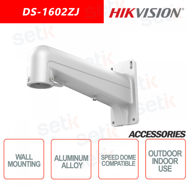 Hikvision wall mount bracket in aluminum alloy for indoor and outdoor, Suitable for Speed Dome cameras