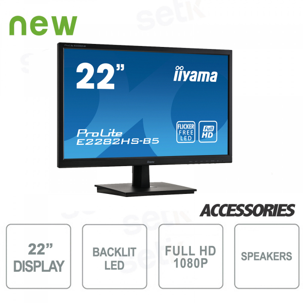 ProLite 22 Monitor Full HD DVI HDMI Speaker A + Vesa Attack - IIYAMA