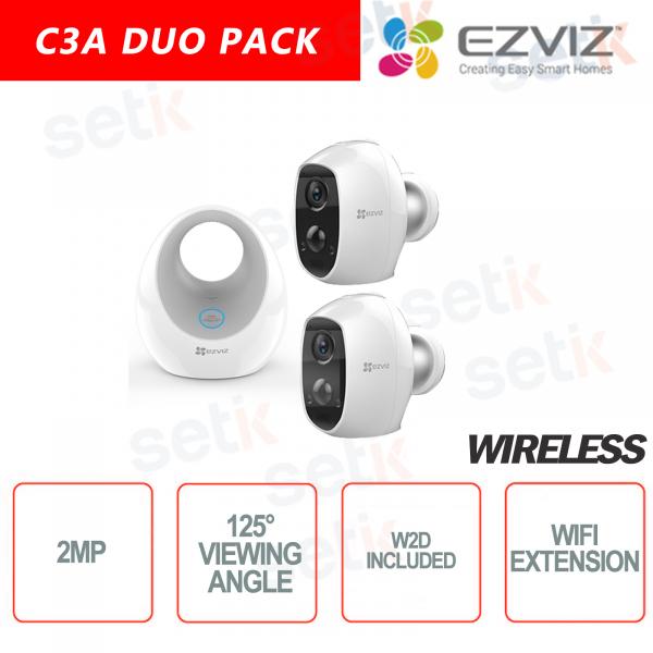 EZVIZ KIT Wireless 2 Telecamera batteria C3A + W2D Base