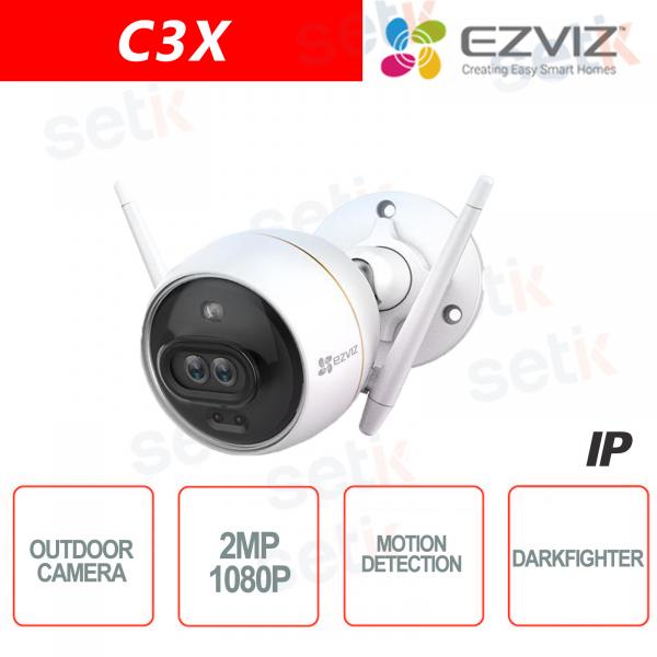 C3X Ezviz Telecamera IP da esterno WIFI 2MP Dual Lens 4mm DarkFighter AI IR Hikvision