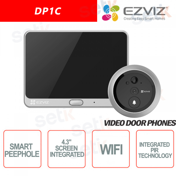 Ezviz DP1C Video door phone with peephole HD 720P Display PIR sensor Audio Cloud Hikvision
