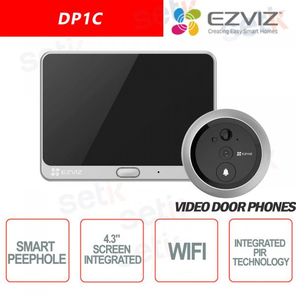 Ezviz DP1C Videocitofono con spioncino HD 720P Display Sensore PIR Audio Cloud Hikvision