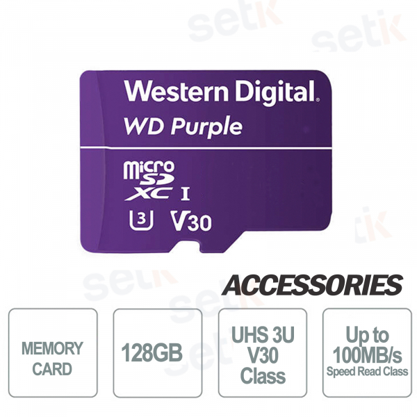 MicroSDXC Western Digital 128 GB Classe 3 UHS U3 V30