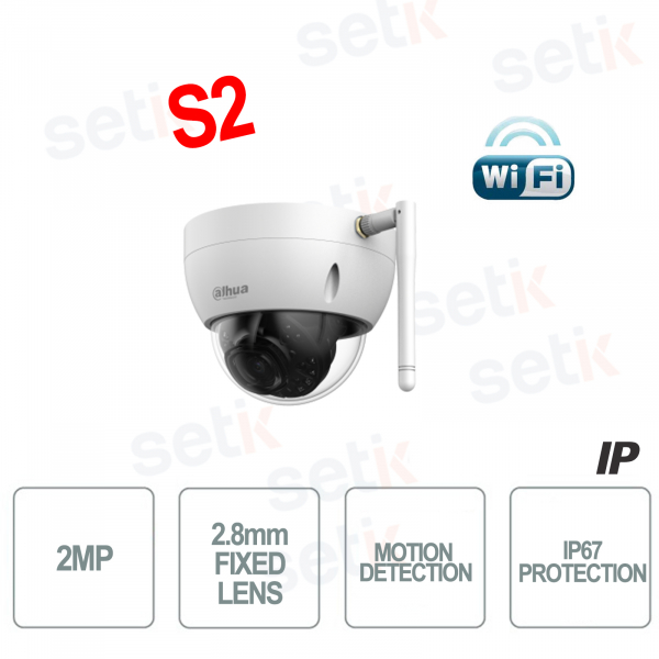 2MP 2.8mm WiFi Wireless Dome IP Camera - Motion Detection S2 - Dahua