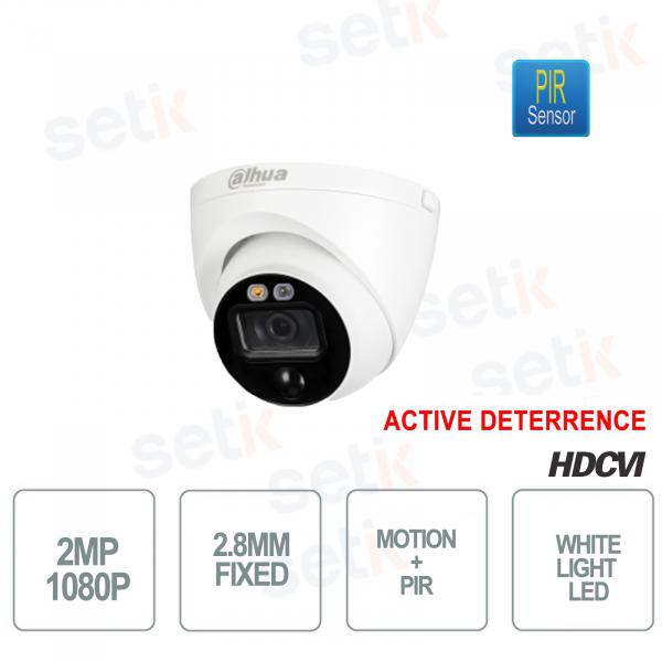 Telecamera HD Dome CVI 2MP 2.8mm PIR Active Deterrence MotionEye Dahua