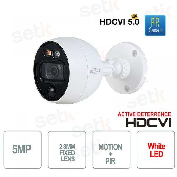 HD CVI 5MP 2.8mm PIR Active Deterrence MotionEye Dahua Camera