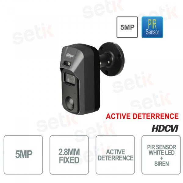 Telecamera Dahua HD CVI 5MP 2.8mm PIR Active Deterrence