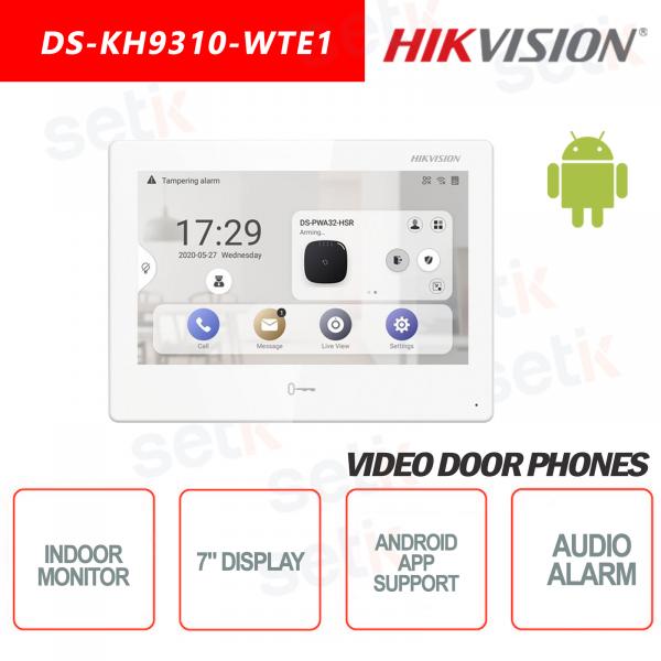 Postazione Interna Hikvision Display 7 Pollici + Slot microsd TF CARD Supporta Applicazioni Android