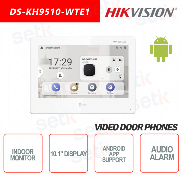 Indoor Station Hikvision 10.1 Inch Display + MicroSD TF CARD Slot Supports Android Applications
