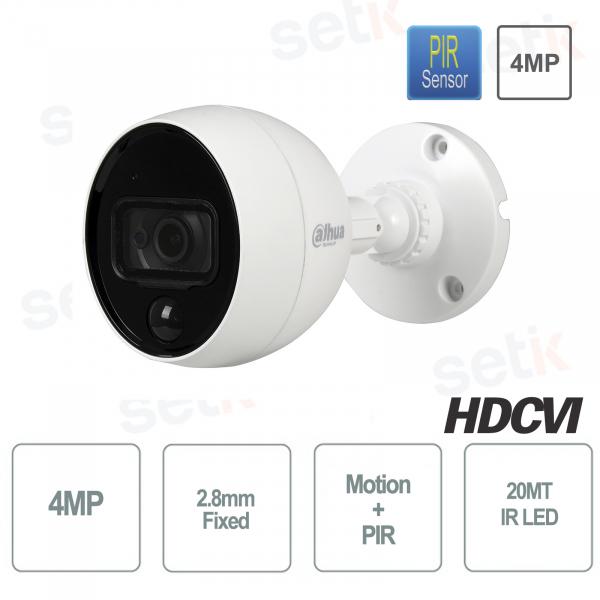 Telecamera hd-cvi 4MP PIR Allarme Motioneye - Dahua