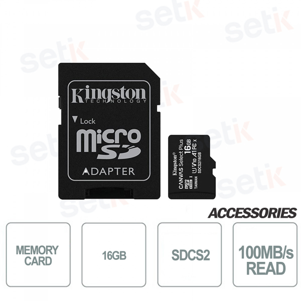 Canvas Select 16GB Class 10 SDCS2 microSD card - Kingston