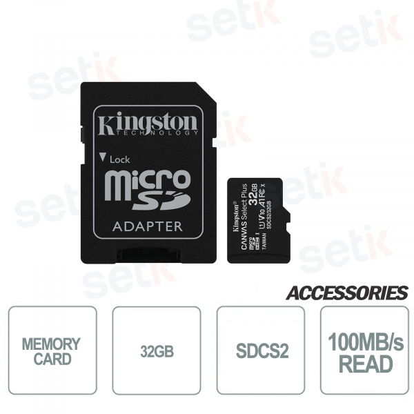 Canvas Select 32GB Class 10 microSD card - SDCS2 - Kingston