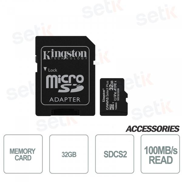 Scheda microSD Canvas Select 32GB Classe 10 - SDCS2 - Kingston