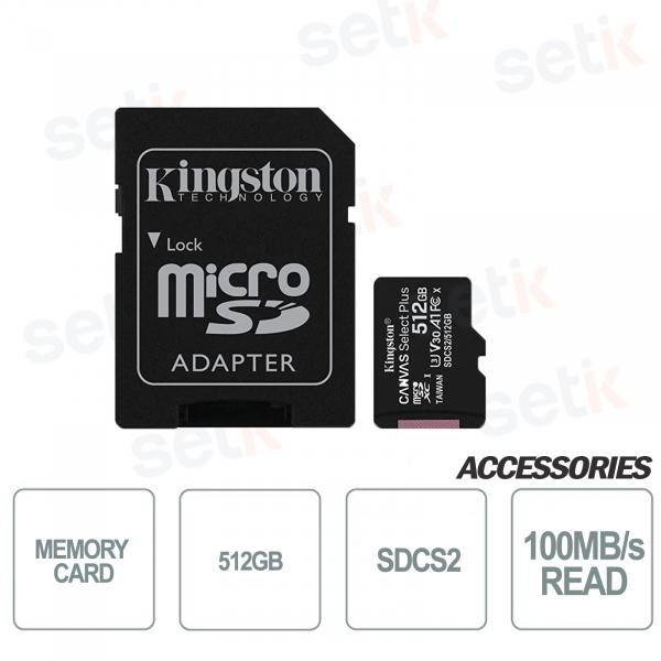 Scheda microSD Canvas Select 512GB UHS-I Classe 10 - SDCS2 - Kingston