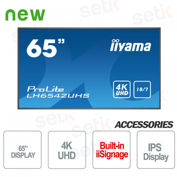 Prolite 65 UHD 4K Monitor IIYAMA Professional LED IPS Display