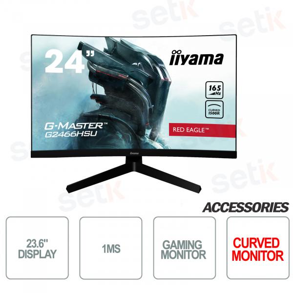 "Curved Monitor 23.6 ""Full HD 1ms ideal for Gaming - IIYAMA"