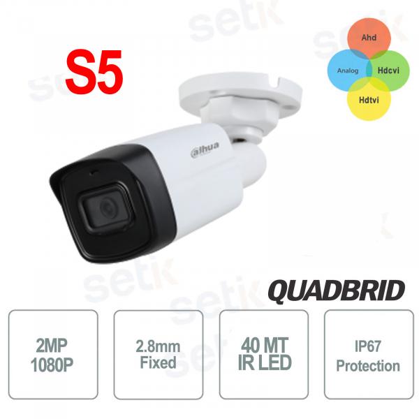 HD CVI 2MP 4in1 2.8mm IR 40 outdoor camera - S5 Dahua version