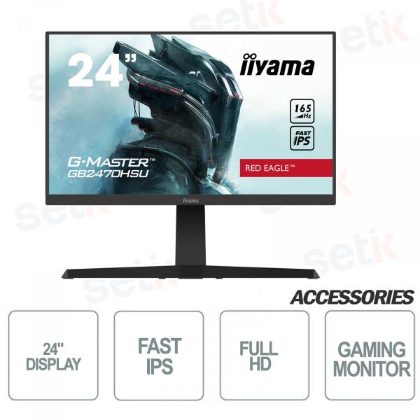 "24 ""Full HD monitor ideal for Gaming - 0.8ms FreeSync Premium - IIYAMA"