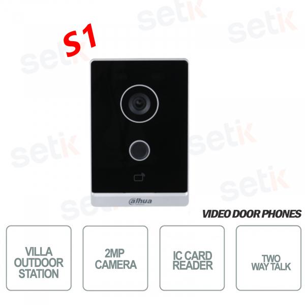 Postazione Esterna Wireless WIFI con telecamera 2MP e lettore IC - Audio - S1 - Dahua