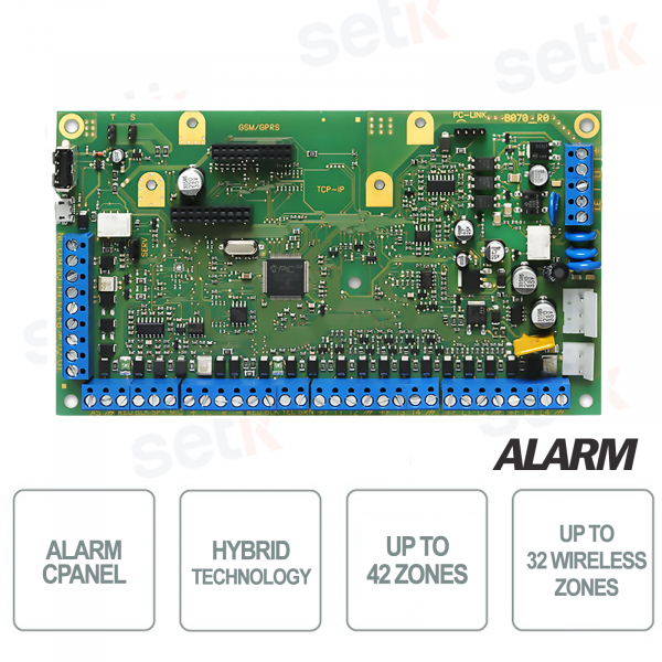 Hybrid alarm control unit - 42 Zones - ABSOLUTA 42