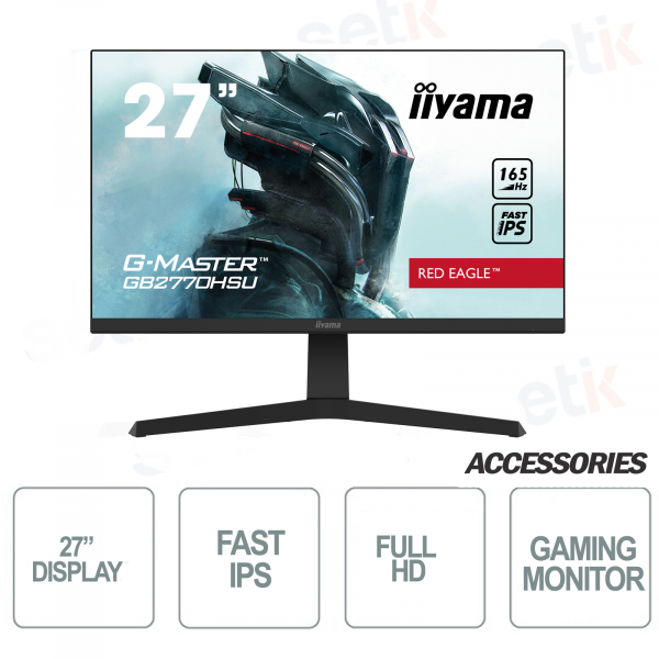 "Monitor 27"" Full HD ideale per Gaming - 0.8ms FreeSync Premium - IIYAMA"
