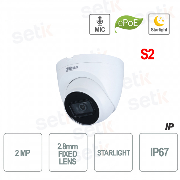 1080P IP Camera Starlight H.265 STARLIGHT PoE Built-in Microphone S2
