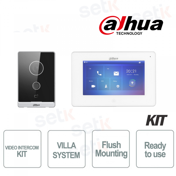 Dahua IP Villa Flush Mount Video Intercom Kit Internal station and Video intercom
