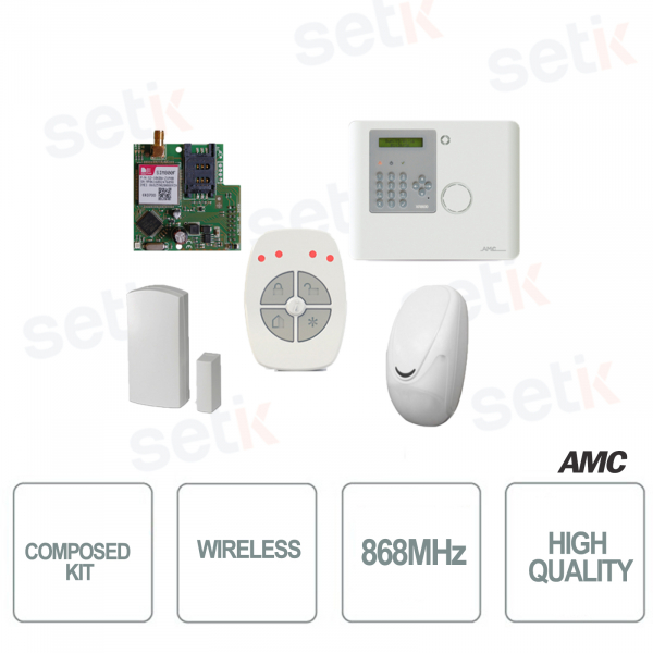 Kit with 1 Control unit XR800V + IF800 + CM800 + TR800-WG + XGPRS - AMC