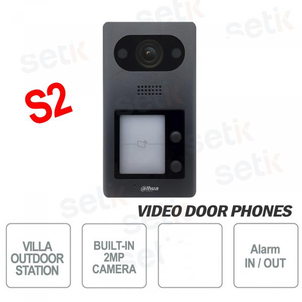 Postazione esterna Videocitofono Dahua IP PoE Telecamera 2 MP 2 Pulsanti e Lettore IC S2