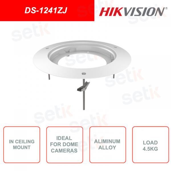 Staffa di montaggio a soffitto HIKVISION DS-1241ZJ compatibile con telecamere di sorveglianza Dome