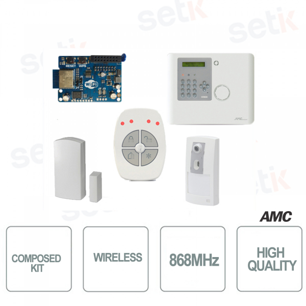 AMC Kit Wireless, 686MHz il kit contiene 1x XR800V, 1x IFV800, 1x CM800, 1x TR800-WG, 1x IP-1W