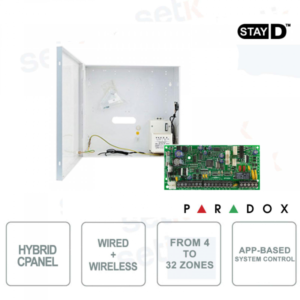 Spectra Central Alarm Paradox SP4000 Hybrid 4 Zone Expandable