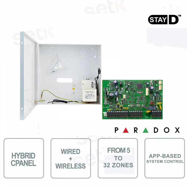 Spectra Central Alarm Paradox SP5500 Hybrid 5 Zone Expandable