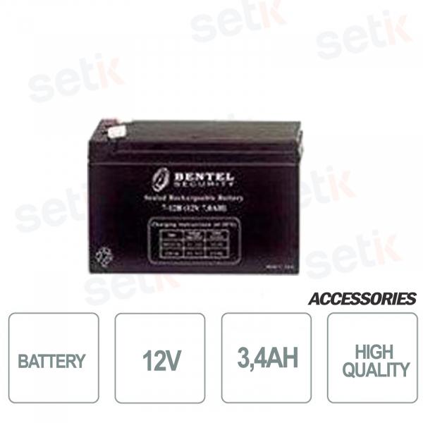 Batteria per centrali allarme 12V 3,4AH - Bentel