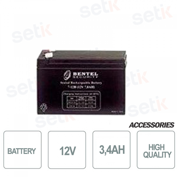 Battery for 12V 3,4AH alarm control units - Bentel