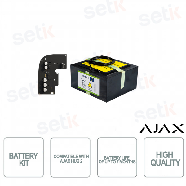 Ajax Battery Kit compatible with Ajax Hub 2 - Battery life up to 7 months