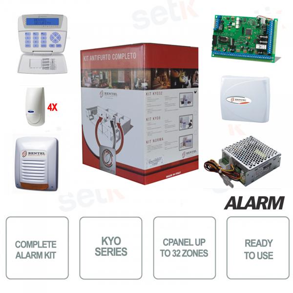 Bentel Wireless Kyo32 Alarm Kit Central Burglar Alarm Siren Sensors kyo32w