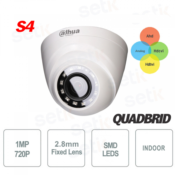 Indoor Dome Camera 4in1 720P 2.8mm SMD Version S4 - Dahua