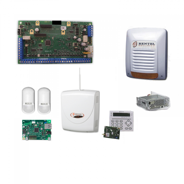 Promo Kit Allarme Casa Bentel Professionale Antifurto Absoluta Plus ABS48-IP Zone + Sensori Perimetrali
