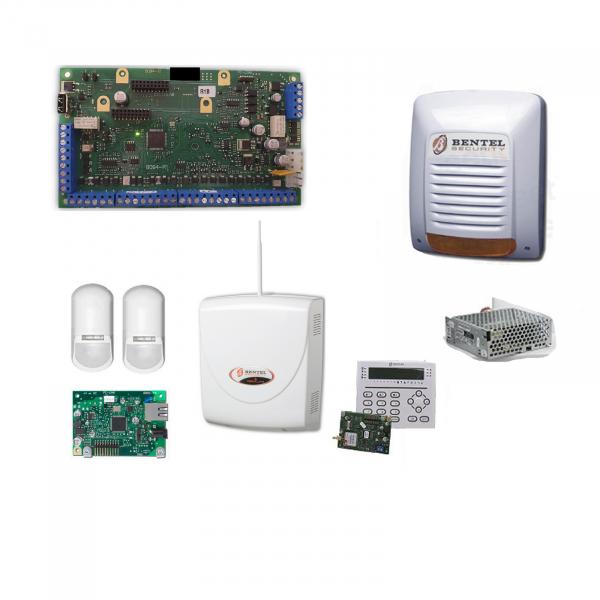 Promo Kit Home Alarm Bentel Professional Anti-theft Absoluta Plus ABS48-IP Zone + Perimeter Sensors