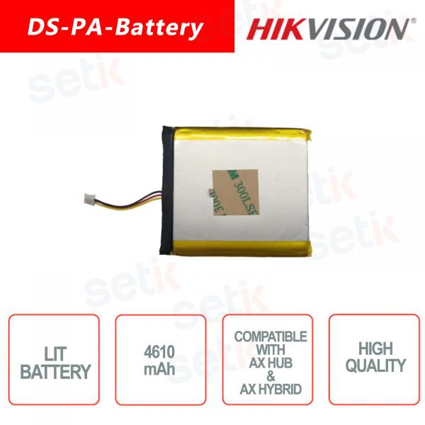 Batteria al Litio per sistemi di allarme Hikvision