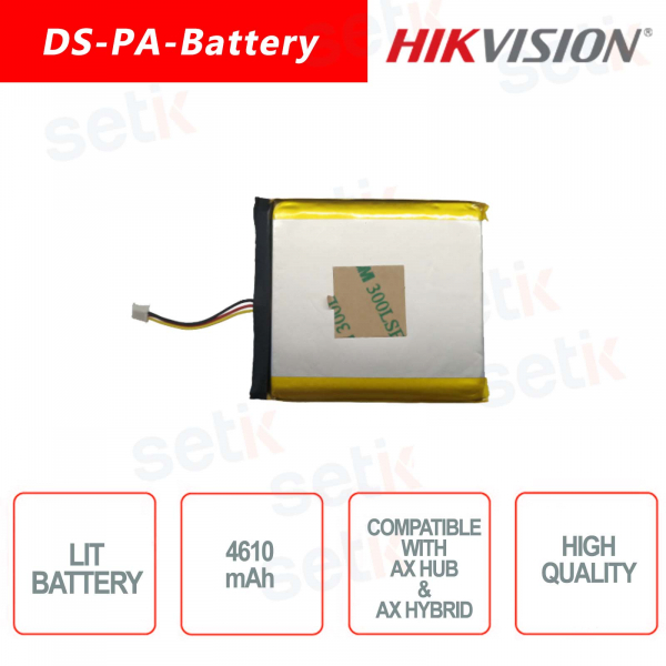 Lithium battery for Hikvision alarm systems