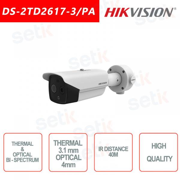 Telecamera Hikvision Bullet bi-spettro termica e ottica