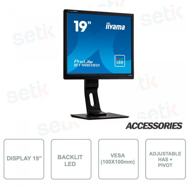 Monitor IIYAMA ProLite B1980SD-B1 19 Pollici Retroilluminazione LED per sistemi di Videosorveglianza