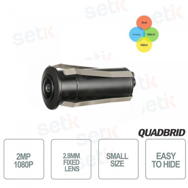 Micro telecamera da esterno HD CVI 2MP 4in1 2.8mm - Dahua