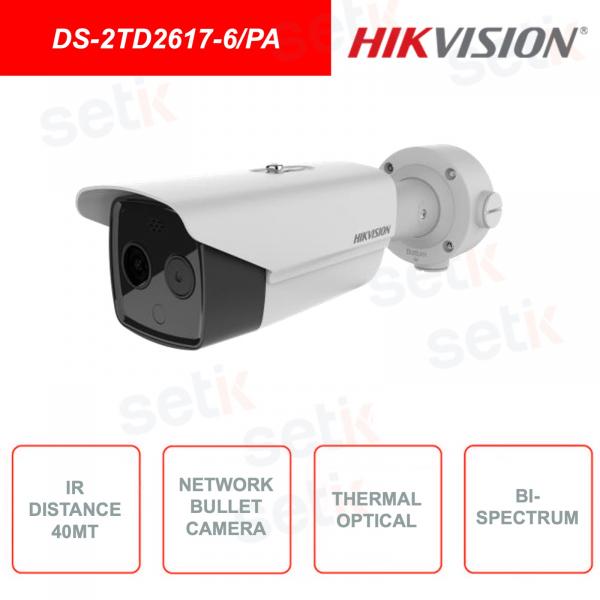 Telecamera Bullet Network Termica e Ottica Bi-spettro  HIKVISION DS-2TD2617-6/PA