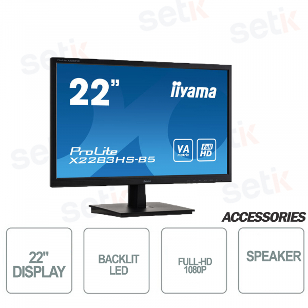 Monitor FULL HD 22 Pollici 4ms Speakers OverDrive
