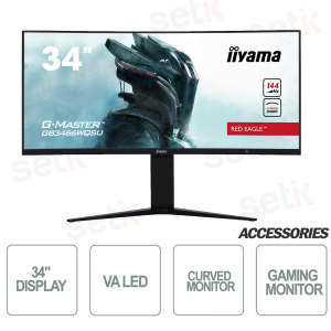 """Curved monitor Red Eagle gaming 34 """"WQSU G-Master - IIYAMA"""