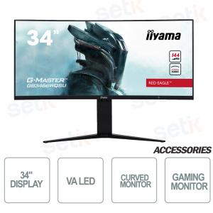 "Monitor Curvo Red Eagle gaming 34"" WQSU G-Master - IIYAMA"